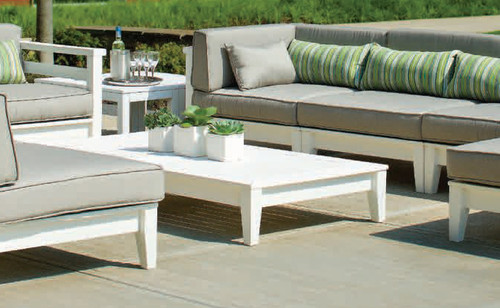 Seaside Casual Cambridge Sectional Coffee Table in White