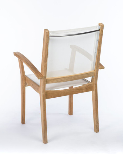 CO9 Design Bayhead Sling Stacking Armchair - White