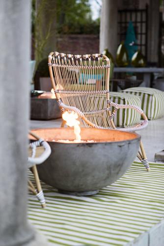Garden Cottage Sika Chantal Highback Ratan Chair