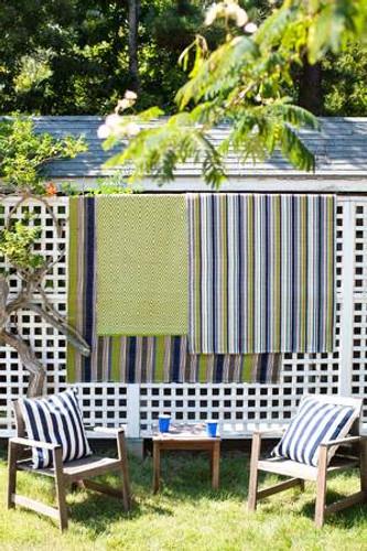 Dash & Albert Marina Stripe Indoor/Outdoor Rug