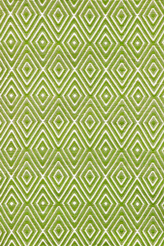 Dash & Albert Diamond Sprout/White Indoor/Outdoor Rug