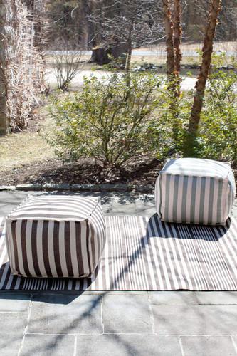 Dash & Albert Indoor/Outdoor Trimaran Stripe Poufs
