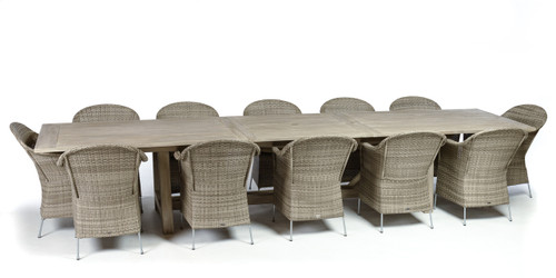 "CO9 Design Lakewood 160"" Extension Table Dining Set"