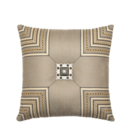 Elaine Smith Jeweled Mitered Stripe toss pillow