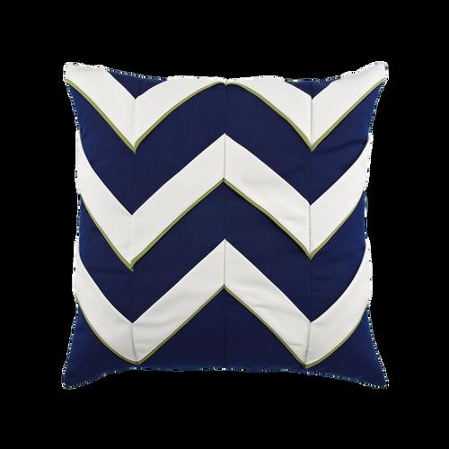 Elaine Smith Navy Cruise Chevron toss pillow