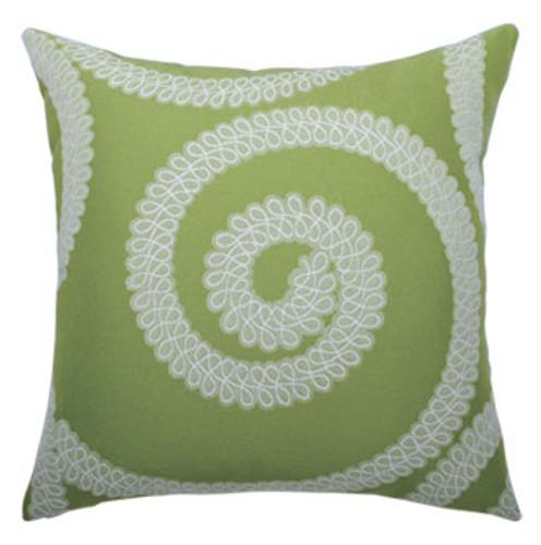 Elaine Smith Spiral Kiwi toss pillow
