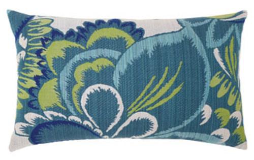 Elaine Smith Floral Wave Lumbar pillow