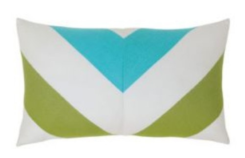 Elaine Smith Poolside Chevron Lumbar pillow