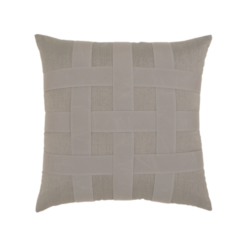 Elaine Smith Basketweave Gray toss pillow
