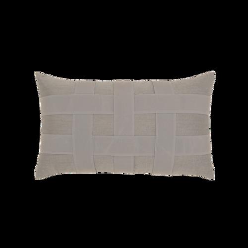 Elaine Smith Basketweave Gray Lumbar pillow