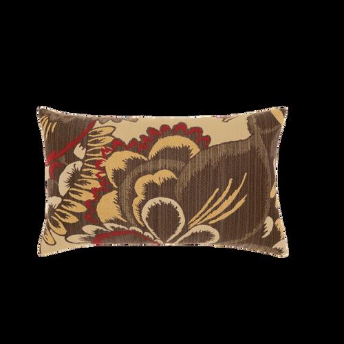 Elaine Smith Golden Floral Lumbar pillow