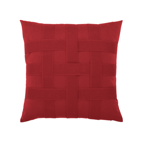 Elaine Smith Basketweave Rouge toss pillow