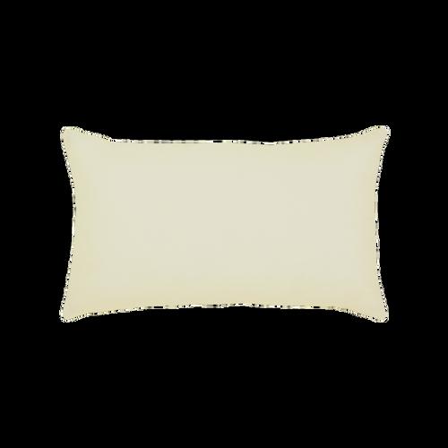 Elaine Smith Cobalt Plaid Lumbar pillow, back