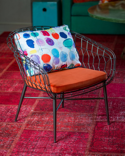 Twist Collection Club Chair with Custom Cushion