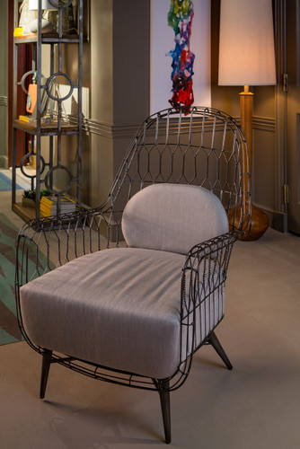 Twist Collection Wing Chair