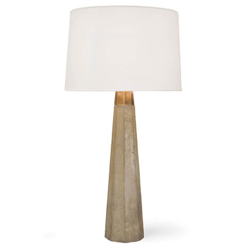Concrete and Brass Table Lamp