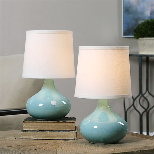 Gabbiano Teal Lamp