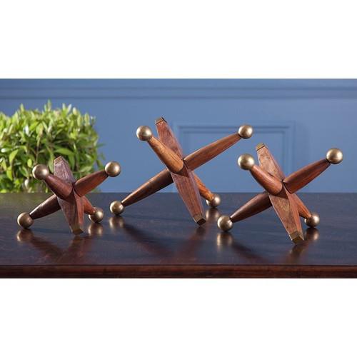 Wood and Metal Jacks (Set of 3)