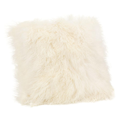 Large Lamb Fur Pillow/Cream