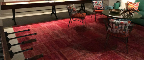 Red Patch Rug