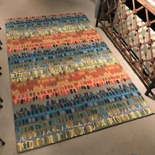 Paint Chip Hooked Rug