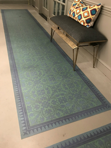 """How Doth The Little Crocodile"" Vinyl Floorcloth Runner"
