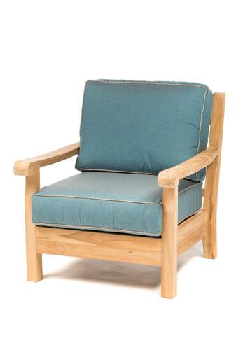 CO9 Design Jackson Club Chair with Cast Lagoon