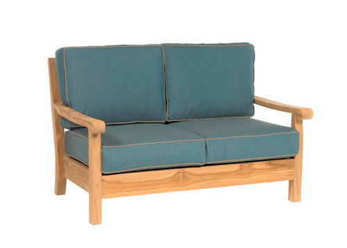 CO9 Design Loveseat with Cast Lagoon Cushions