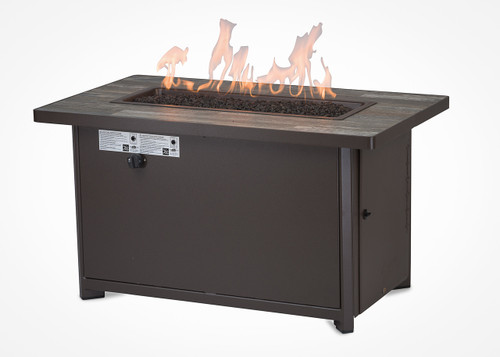 "Garden Cottage 26""x45"" Rectangle Chat Height Gas Fire Pit"
