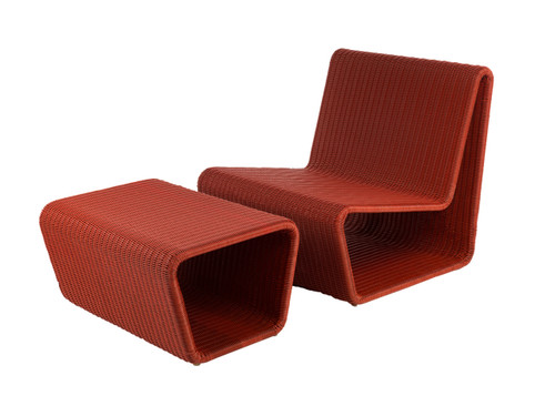 CO9 Design Lola Adirondack Ottoman- Red