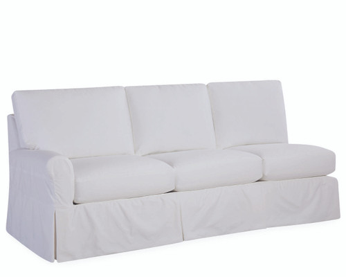 Slipcovered Rolled One Arm Sofa (C71X-18LF)