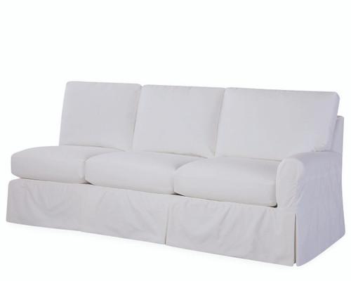 Slipcovered Rolled One Arm Sofa (C71X-18RF)