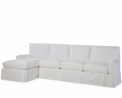 Essentials Slipcovered One Arm Sofa