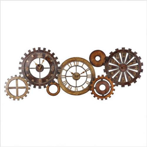 Spare Parts Clock in Dark Chestnut Brown