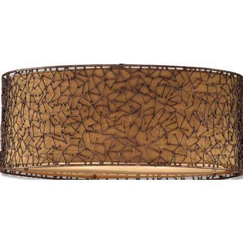 Brandon Three Light Hanging Shade in Brown