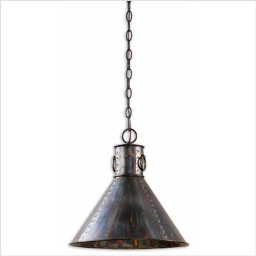 CK Generic Levone One Light Pendant in Oxidized Bronze
