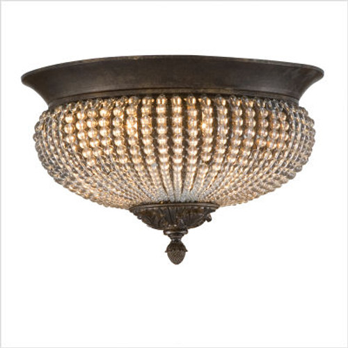 Cristal de Lisbon  Flush Mount in Golden Bronze