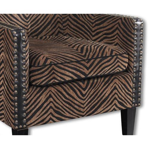 Kimoni Armchair in Plush Stripes
