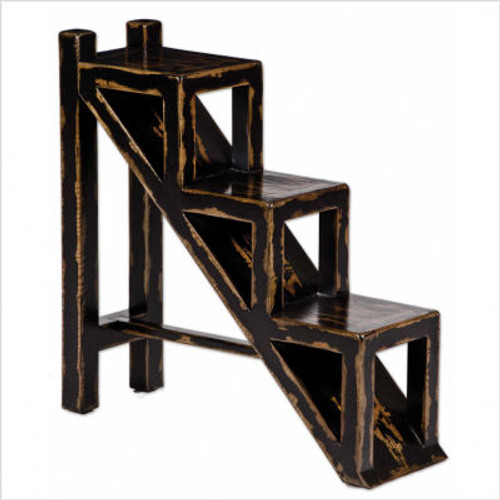 Asher Black Accent Table