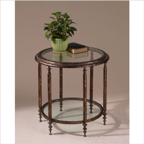 Leilani Accent Table in Gold Mottle