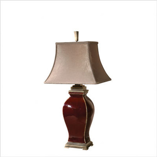 Rory Table Lamp in Burgundy