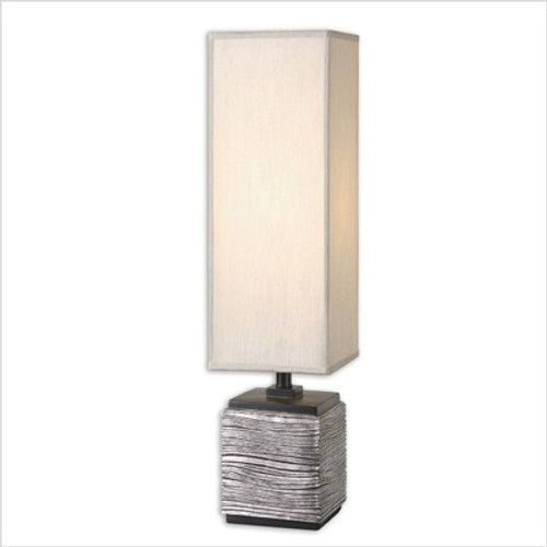 Ciriaco One Light Lamp in Antiqued Silver