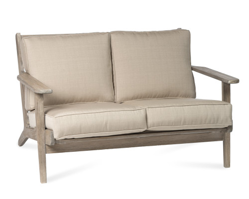 Dover Loveseat with Champagne Cushions
