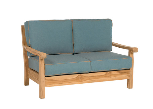 CO9 Design Jackson Loveseat with Cast Lagoon Cushions