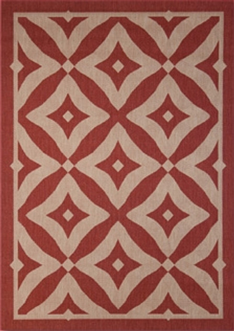 Treasure Garden Charleston Henna outdoor rug, large