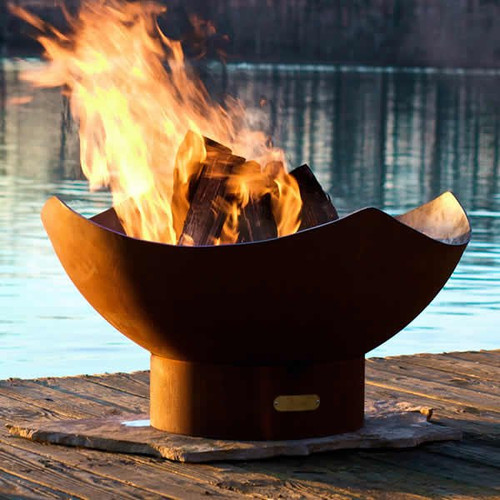Manta Ray Fire Pit-Natural Finish