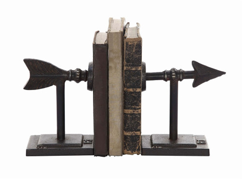 "S/2 3.5""H CAST IRON ARROW BOOKENDS"