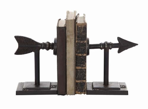 "S/2 3.5""H CAST IRON ARROW BOOKENDS"