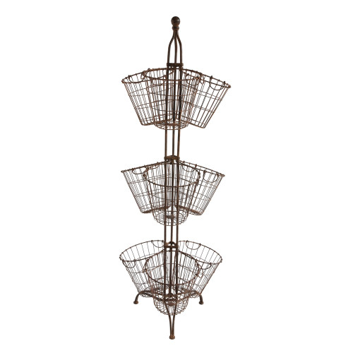 METAL STAND WITH WIRE BASKETS
