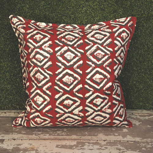 "RED SAPO TOSS PILLOW 22"" SQUARE"